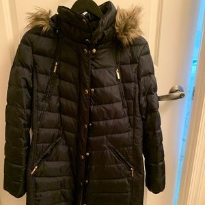 MK winter jacket with detachable fur trimmed hood